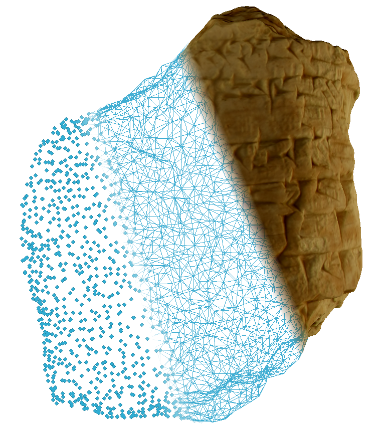 A cuneiform tablet virtual model.